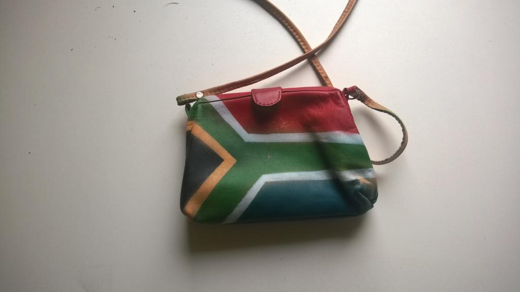 Tasche mit Südafrikaflagge